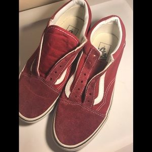 Vans low cuts size 7.5 no laces